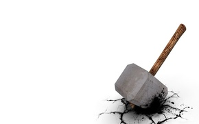 Picture cracked, Minimalism, hammer