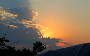 Picture the sky, sunset, clouds