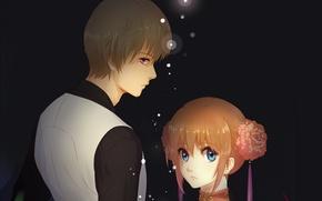 Picture girl, anime, guy, Gintama, GINTAMA