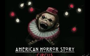 Picture monkey, digital art, american horror story, circus, fan poster, freak show