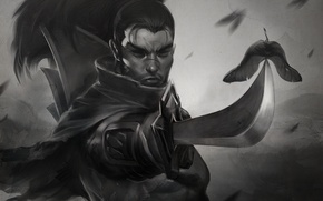 Picture figure, sword, warrior, samurai, League of Legends, Samurai, LOL, Yasuo, Yasuo