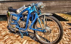 Picture style, retro, frame, wheel, motorcycle, vintage, retro, vintage, oldscholl, Capiola sport
