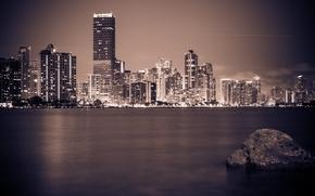 Picture lights, Miami, the evening, FL, Miami, florida, vice city