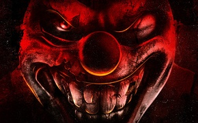 Picture the game, clown, play station, Twisted Metal
