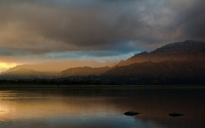 Picture forest, landscape, mountains, nature, lake