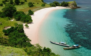 Picture beach, the ocean, shore, Indonesia, Komodo National Park