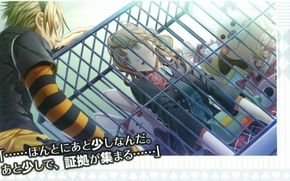 Picture toys, cell, tears, characters, two, prisoner, amnesia, toma, heroine, by mai hanamura