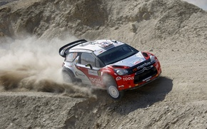 Picture dust, rally, 2011, rally, wrc, citroen, ds3, Petter Solberg, Petter Solberg