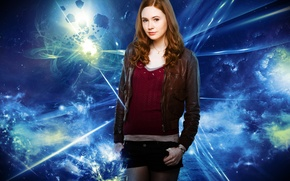 Picture look, girl, face, background, shorts, actress, shorts, chain, red hair, Doctor Who, cute, redhead, Doctor …