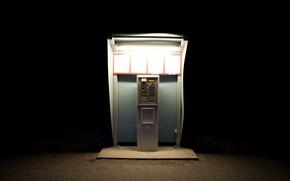 Picture light, machine, Park, darkness, the ticket machine