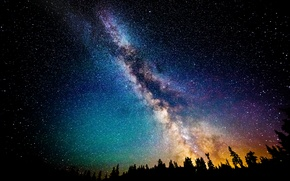Wallpaper the sky, stars, night, the milky way