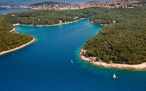 Picture sea, Islands, Croatia, Jadran, Mali Losinj, Čikat bay