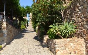 Picture road, the sky, Spain, Tossa de Mar