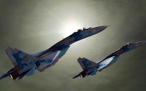 Wallpaper SU27, Sukhoi, Ukraine, fighters