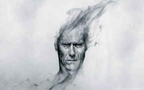 Picture head, peer, art, Clint Eastwood, Clint Eastwood
