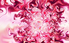 Picture white, color, abstraction, pink, shades, Mixed Emotion