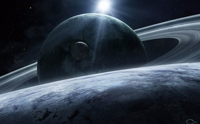 Picture space, stars, planet, space, planet