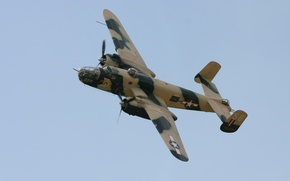 Picture flight, bomber, American, North American, twin-engine, average, Mitchell, B-25