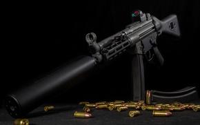 Picture background, machine, bullets, muffler