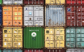 Picture colors, vivid colors, containers