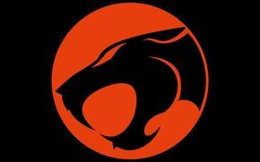 Wallpaper red, logo, black, Thundercats
