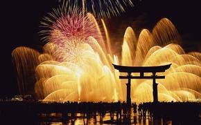 Wallpaper night, Japan, fireworks