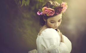 Picture mood, girl, wreath
