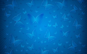 Picture strips, butterfly, blue