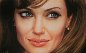 Picture face, actress, Angelina Jolie, Angelina Jolie
