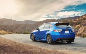 Picture Subaru, Impreza, WRX, blue, gopa