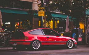 Picture Honda, Red, Honda, Stance, CR-X