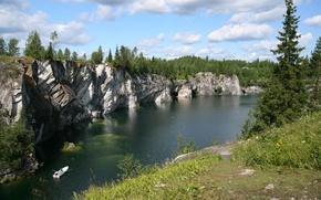 Wallpaper rocks, river, open