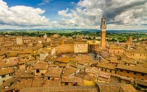 Wallpaper building, roof, Italy, panorama, Italy, Tuscany, Tuscany, Siena, Siena