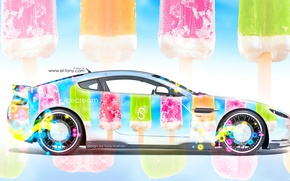Picture Multicolors, Tony Kokhan, Tony Kokhan, Airbrushing, Side View, Aerography, Ice cream, Colorful, el Tony Cars, ...