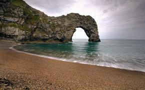 Picture sea, pebbles, Strait, swim, rock