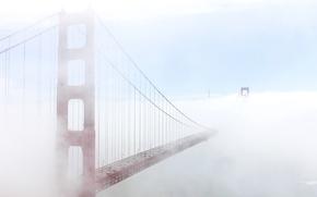 Picture bridge, fog, Golden gate, San Francisco