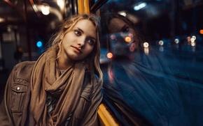 Picture sadness, girl, drops, reflection, rain, portrait, window