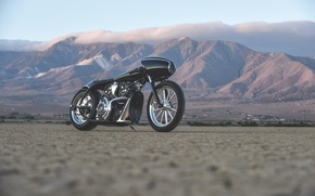 Picture clouds, landscape, mountains, style, retro, black, power, motorcycle, black, Bullet, Black, motorcycle, custom, custom, Indian, …