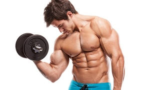 Picture muscles, workout, arms, bodybuilding, abs, dumbbell, Bodybuilder