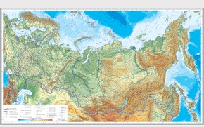 Wallpaper Russia, map, Russia, geography