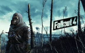 Picture the game, games, Fallout 4, armor with spikes and mask, fallout 4, open world, open …