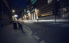 Picture road, night, lights, night, street