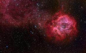 Wallpaper NGC 2237, Outlet, stars, nebula, NGC 2244
