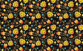 Picture flowers, pattern, motley