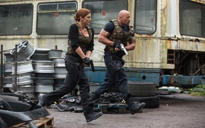 Picture Dwayne Johnson, Dwayne Johnson, Gina Carano, Fast and furious 6, Luke Hobbs, Fast & Furious ...