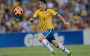 Picture football, Brazil, Oscar, Nike, Football, London, Chelsea, Brazil, Oscar, Nike