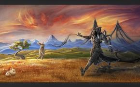 Picture field, welcome, evil, Diablo 3, art, Malthael