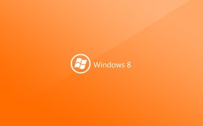 Picture microsoft, Logo, orange, Hi-Tech, windows 8
