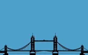 Picture Wallpaper, England, London, minimalism, bridge, Tower Bridge, London, Tower bridge