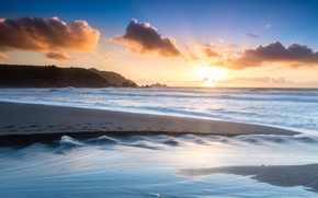 Picture sand, beach, the ocean, shore, morning, Pacifica, Rockaway Beach